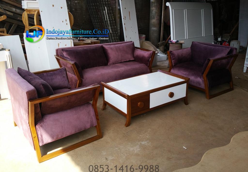Set Sofa Ruang Tamu Minimalis Terbaru Vintage IJF-0093