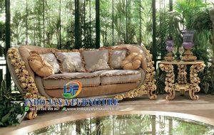 Sofa Kursi Ruang Tamu Klasik Royal Boroque Mewah Modern Terbaru IJF-0015