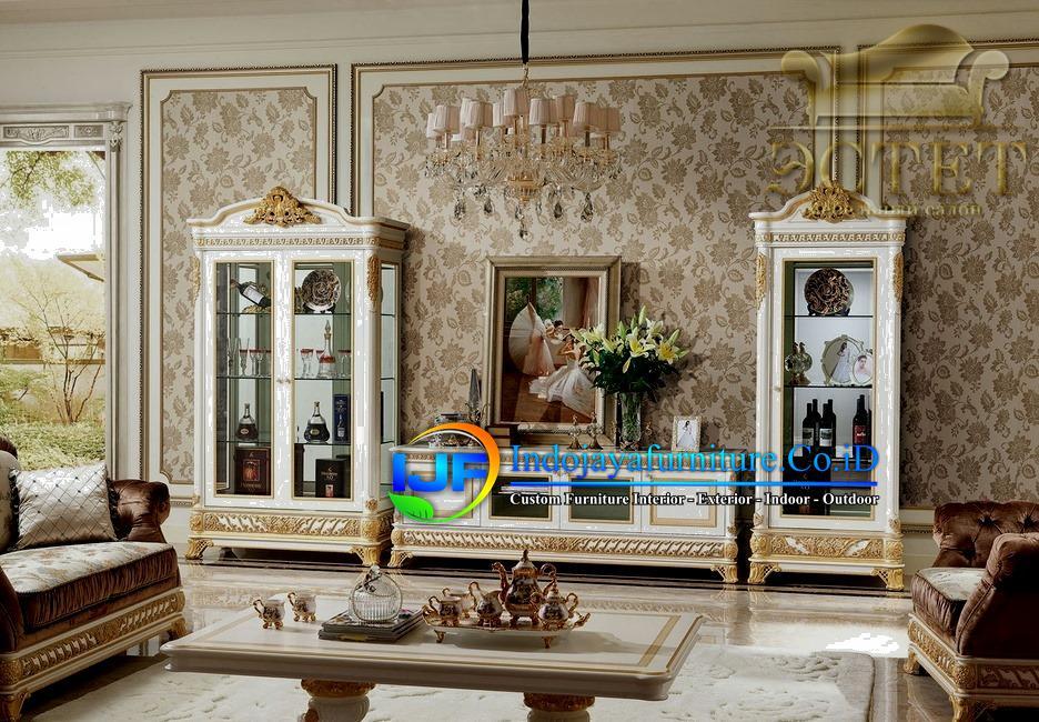 Set Bufet Tv Klasik Mewah Mebel Terbaru IJF-0103
