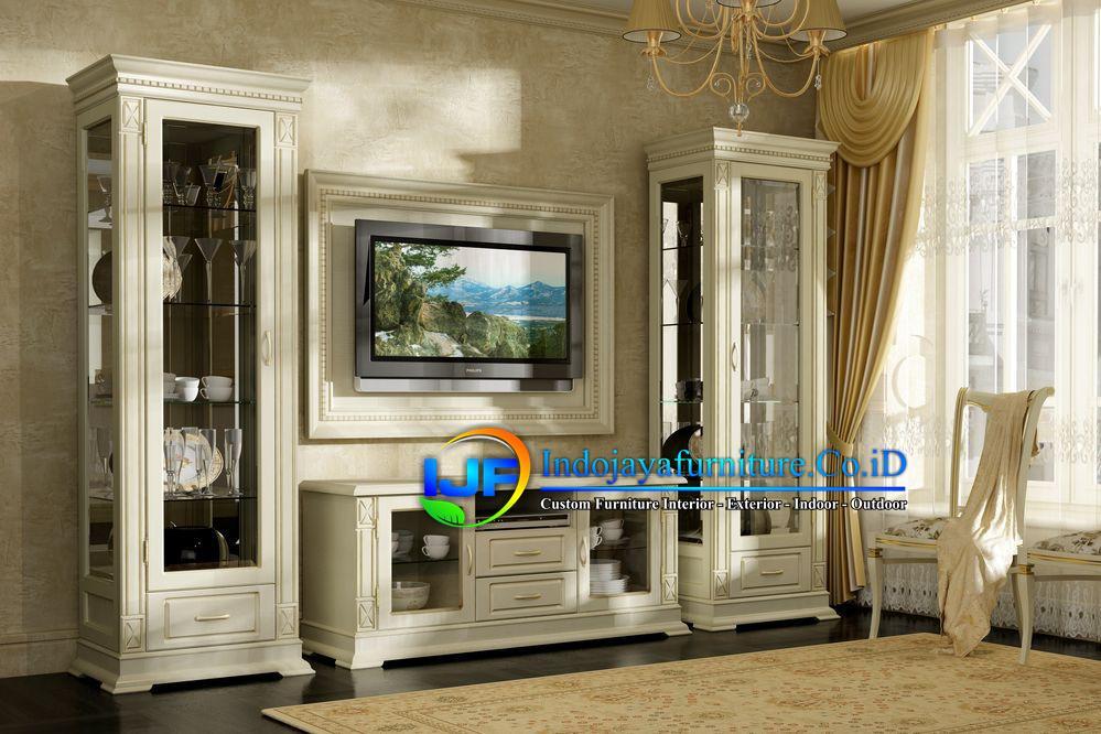 Set Bufet Tv Minimalis Klasik Terbaru IJF-0102, Set Bufet TV Mewah Minimalis Terbaru, Set Bufet Tv Mewah Lemari Hias Kayu Jati Ukir Klasik Jepara Terbaru, Meja Tv Mewah Terbaru, Set Bufet TV Jati Murah