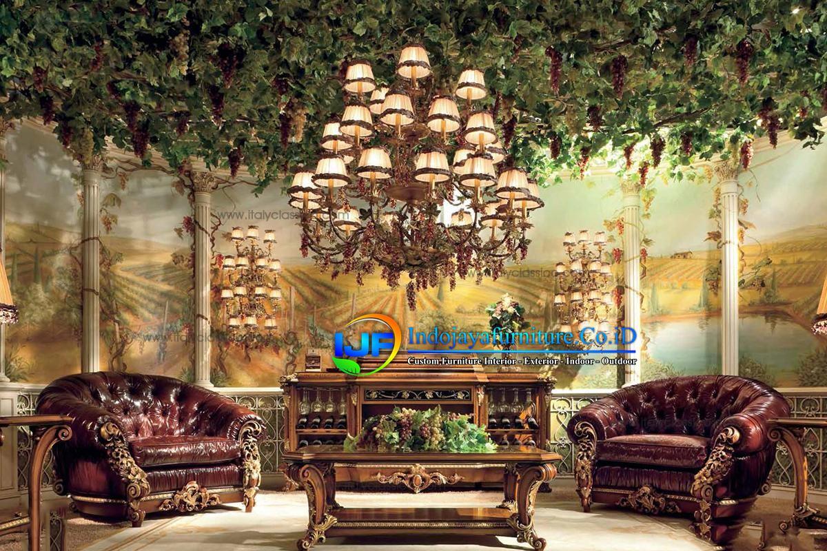 Sofa Tamu Modern Mewah Sampang
