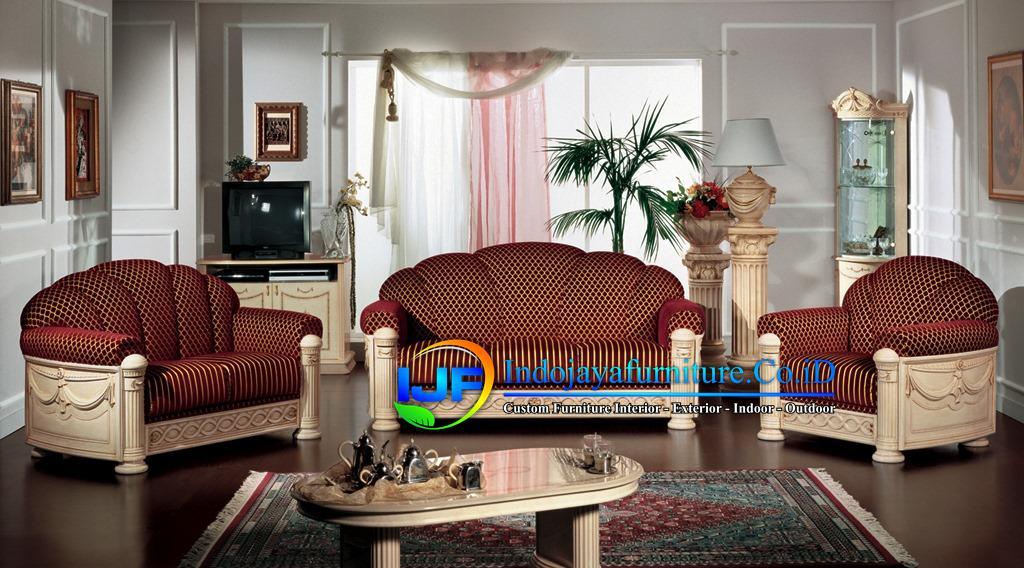 Set Sofa Ruang Tamu Jati Ukir Klasik Yogyakarta