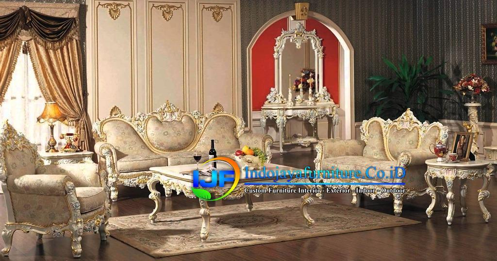 Sofa Tamu Eropa Jati Klasik Sidoarjo