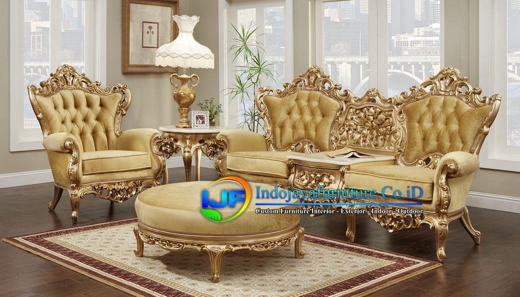 Sofa Tamu Eropa Jati Klasik Cilegon