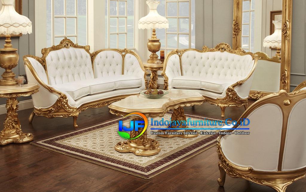 Sofa Tamu Mewah Eropa Terbaru Kediri