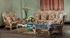 Sofa Tamu Ukiran Klasik Gold Tuban