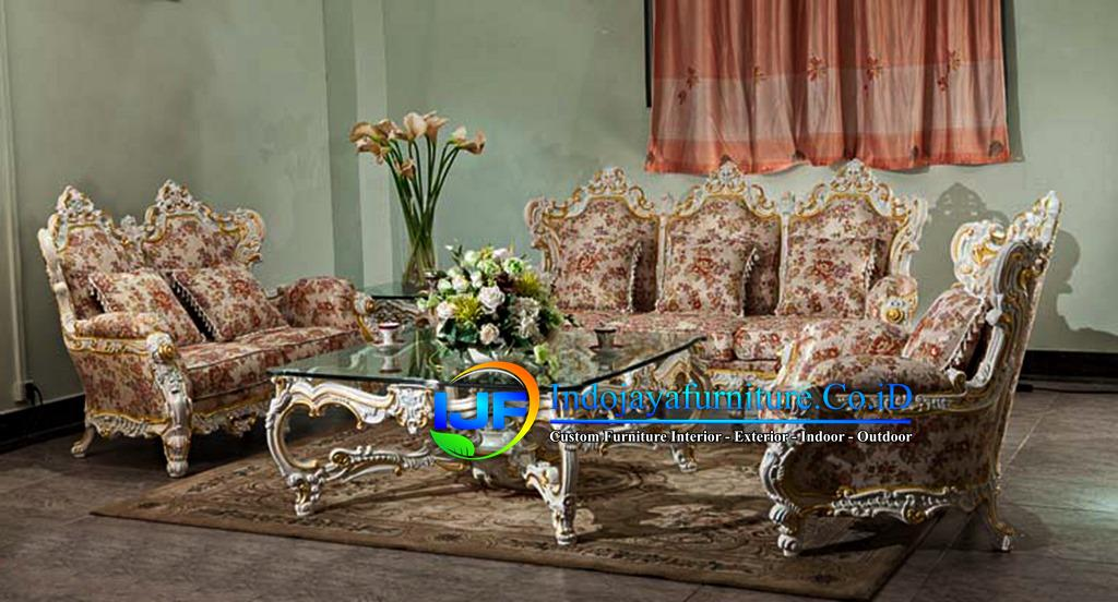 Sofa Tamu Eropa Jati Klasik Purwodadi