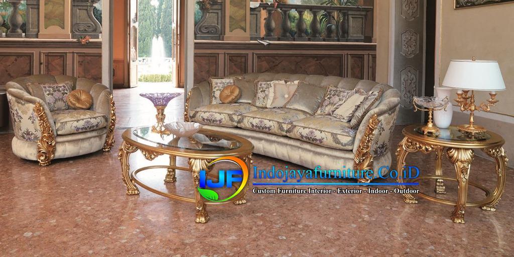 Sofa Ruang Tamu Mewah Gold  Tangerang