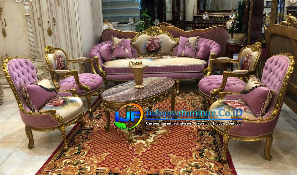 Sofa Tamu Mewah Eropa Terbaru Purwakarta