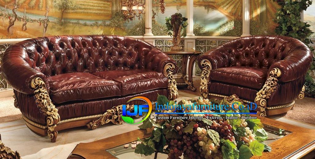 Sofa Tamu Ukiran Klasik Gold Lamongan