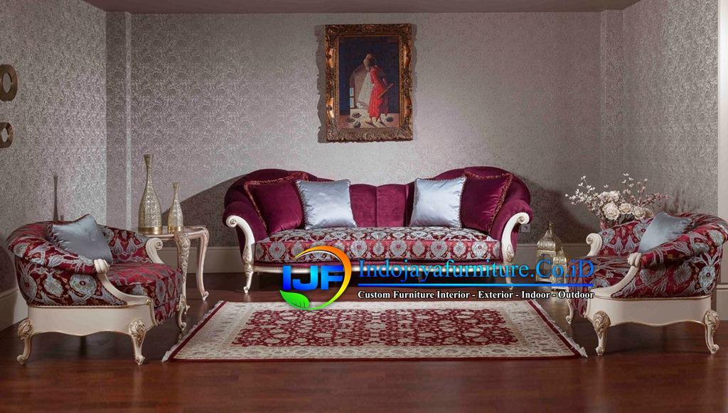Sofa Tamu Ukiran Klasik Gold Kebumen