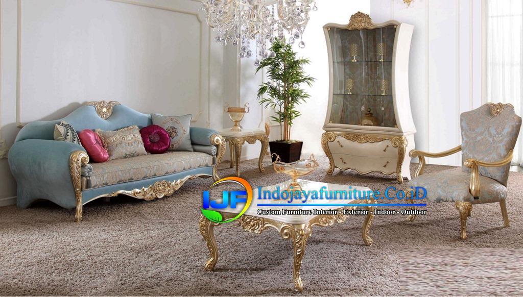 Sofa Tamu Mewah Eropa Terbaru Ngamprah