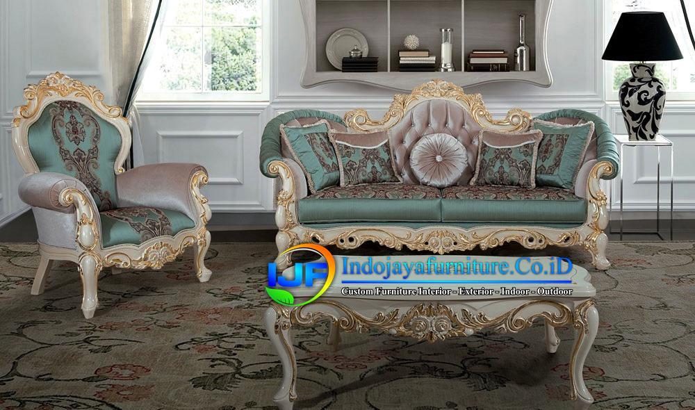 Sofa Ruang Tamu Mewah Gold Kepanjen
