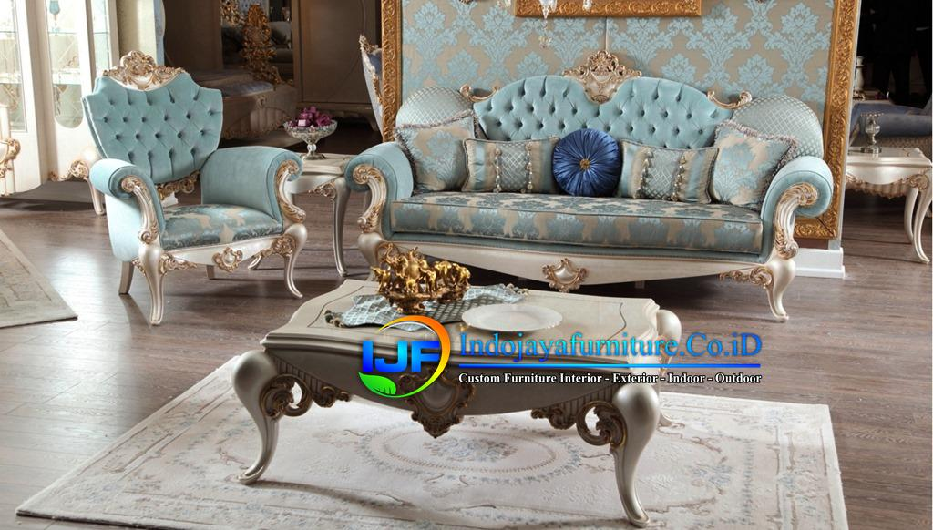 Set Sofa Ruang Tamu Jati Ukir Klasik Caruban