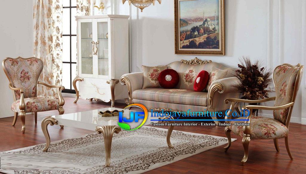 Sofa Tamu Ukiran Klasik Gold Jombang
