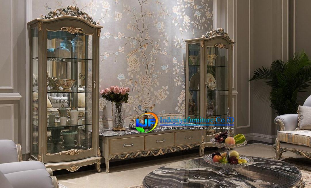 Bufet Tv Klasik Mewah Lemari Hias