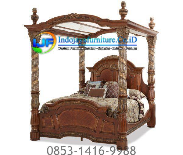 8ea295c89e82bfeefb88d35fb134b8da-Copy Tempat Tidur Jati Mewah Terbaru Jual Mebel Jepara IJF-0186, Model Tempat Tidur Jati Minimalis Klasik Bedroom