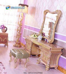 Meja Rias Mewah Klasik Gold Terbaru, Harga Meja Rias Klasik, Jual Meja Rias Classic Boroque IJF-0174