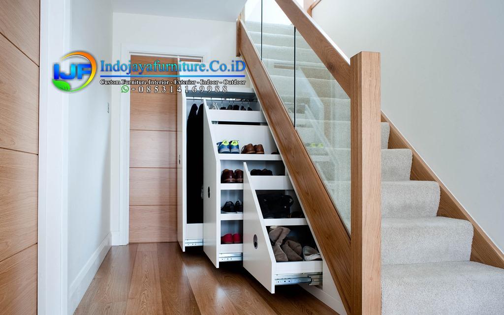 47+ Gambar Lemari Pakaian-TV-Dapur-Buku-Loker Posisi Di Bawah Tangga Rumah Model Minimalis Modern Terbaru IJF-0134